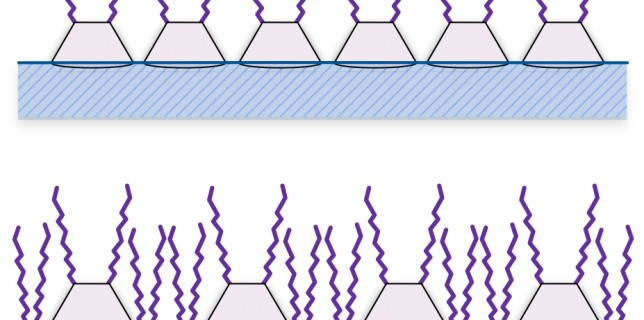 A comparison of a calix[4]resorcinarene monolayer with (bottom) and without (top) surfactant
