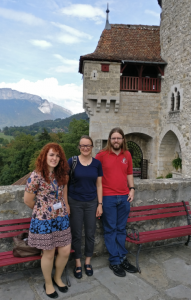 Sarah, Jane, and Nick attending the FLAIR conference in Aix-les-Bains.