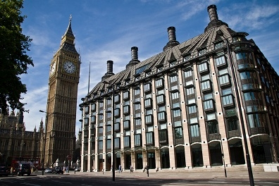 The poster presentation was held at Portcullis House, which is part of the UK Westminster Parliament Complex in London.